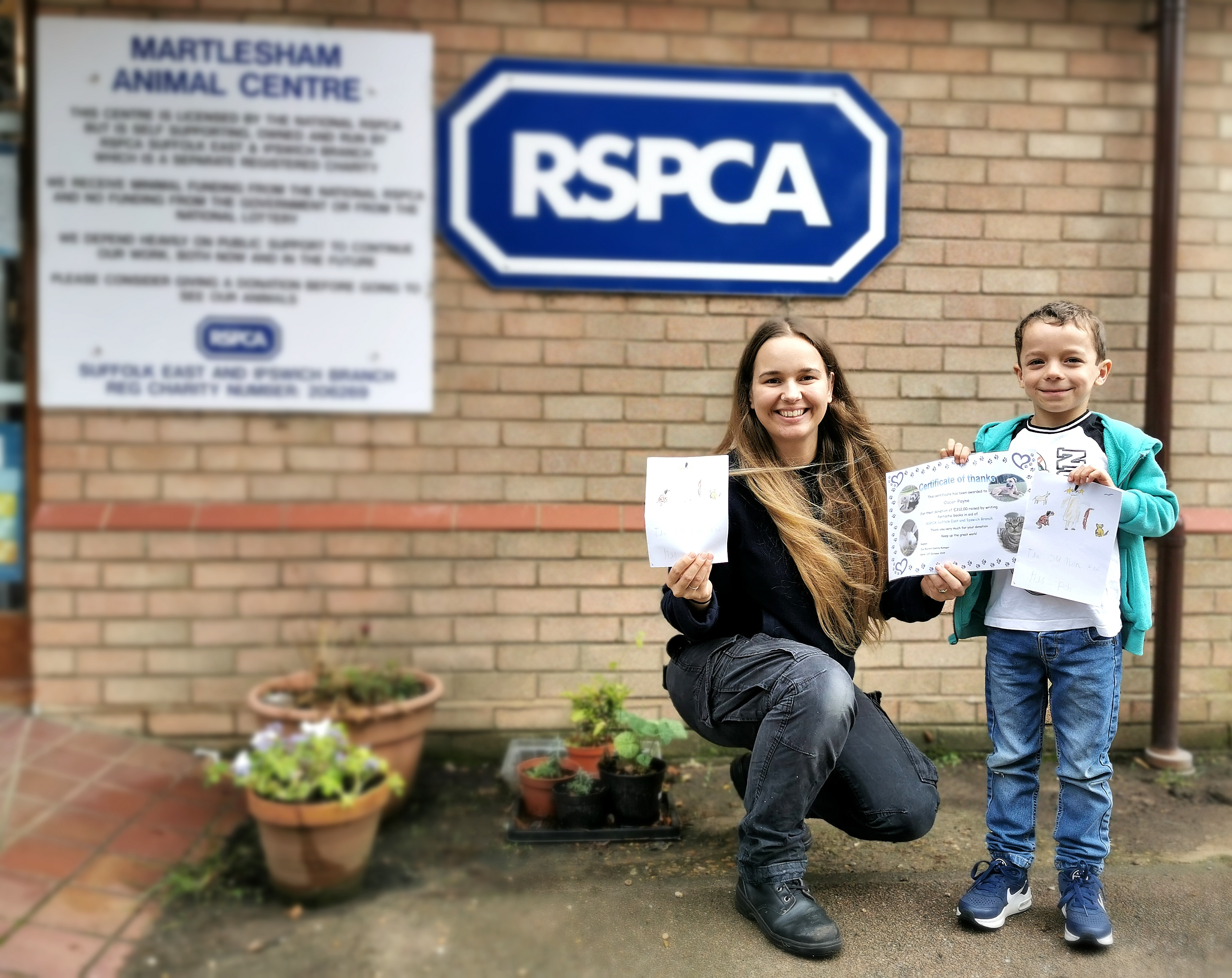 Kid fundraisers for RSPCA