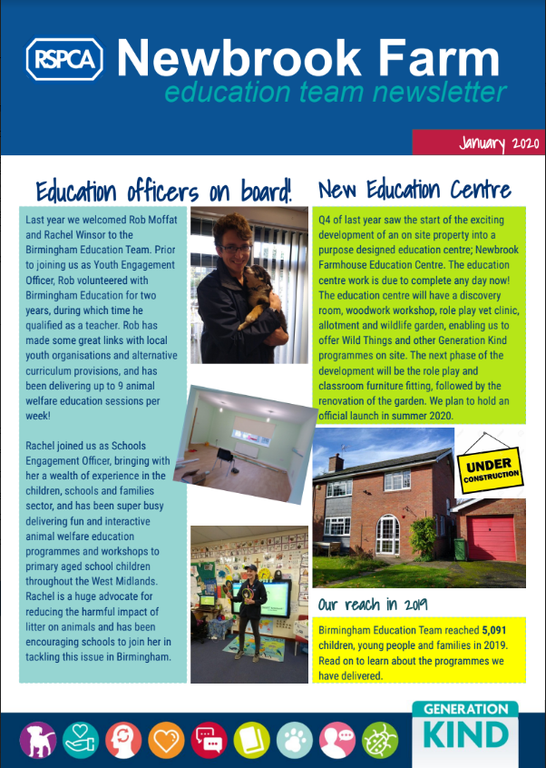 Newbrook Farm Education Team Newsletter